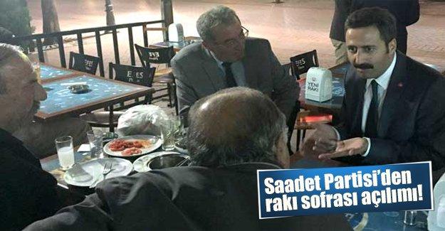 Saadet Partisi'nden rakı sofrası açılımı! Ankara milletvekili rakı sofrasında oy istedi