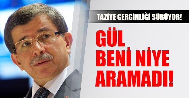 Taziye gerginliği sürüyor! Davutoğlu kendisini siyasete soka Gül'ü eleştirdi