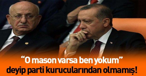 """AK Parti'nin yeni başkan adayı """"içimizde mason var""""diyerek parti kurucuları arasında yer almamış"""