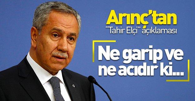Arınç'tan ''Tahir Elçi'' açıklaması! ''Ne garip ve ne acıdır ki...''