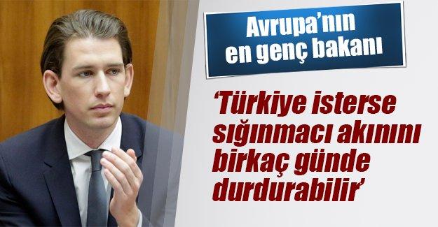 Avrupa'nın en genç bakanı: Türkiye isterse sığınmacı akınını durdurur
