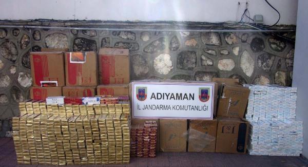 Besni'de 2 bin kaçak sigaraya 1 gözaltı