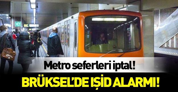 Brüksel'de üst düzey IŞİD alarmı! Toplu ulaşımı durdurdular