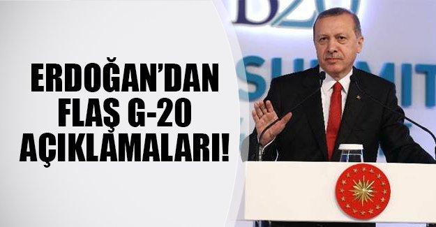 Cumhurbaşkanı Erdoğan'da G20 zirvesinde konuştu! İşte flaş açıklamalar