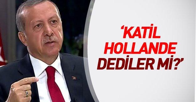 """Erdoğan'dan canlı yayında Paris katliamı açıklaması: """"Katil Hollande dediler mi?"""""""