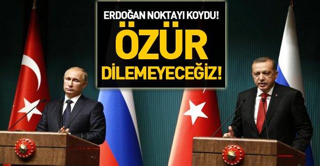 Türkiye Rusya'dan özür dileyecek mi? İşte Erdoğan'dan özür açıklaması