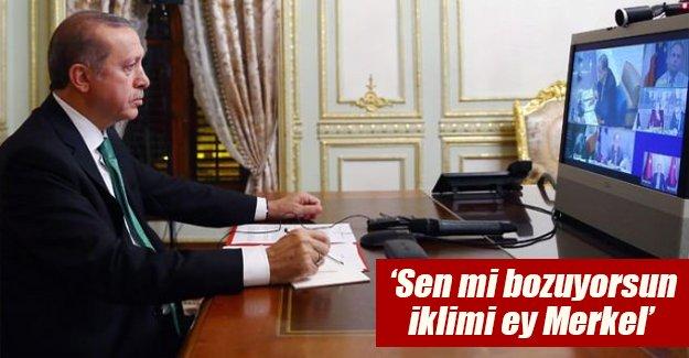Erdoğan telekonferans yöntemiyle dünya liderleriyle görüştü!