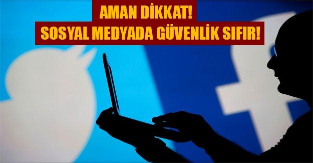 Facebook ve Twitter kullancıları dikkat! İnternette güvenlik sıfır...