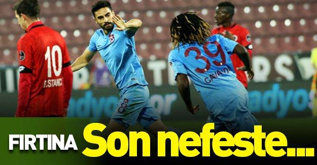 Fırtına son nefeste! (Trabzonspor 1-0 Gençlerbirliği) Maçın özeti