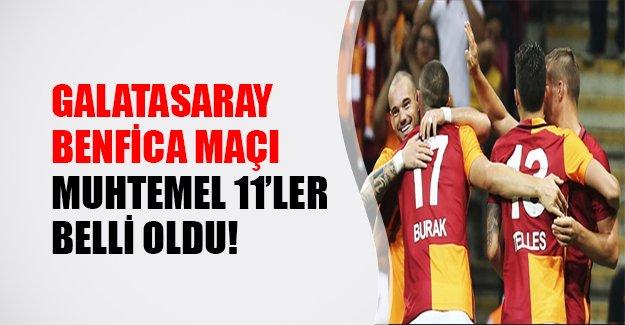 Galatasaray Benfica karşısına nasıl bir 11'le çıkacak?  Benfica Galatasaray maçı hangi gün saat kaçta, hangi kanalda? Galatasaray Benfica şifresiz izle