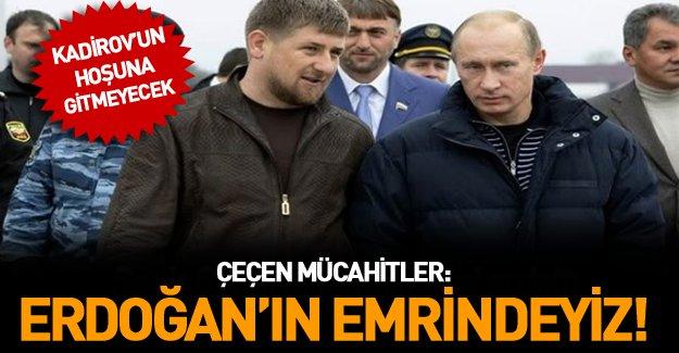 Kadirov'a karşı Çeçen mücahitler: 'Erdoğan'ın emrini bekliyoruz'