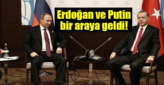 Merakla beklenen görüşme gerçekleşti! Erdoğan ve Putin biraraya geldi