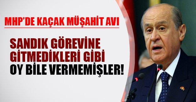 MHP'de şok üstüne şok! 'Çakma ülkücüler' sandık görevine gitmediği gibi oy da vermemiş!