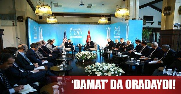 """Obama - Erdoğan görüşmesine """"damat"""" da katıldı!"""