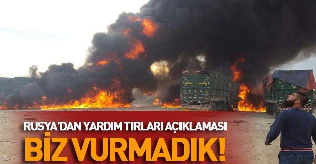Rusya: Türk yardım TIR'larını biz vurmadık