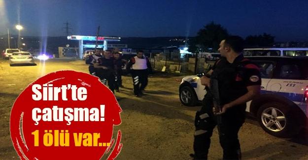 Siirt kent merkezinde çatışma çıktı! Saldırganlarda biri öldü, 1 polis de yaralandı.