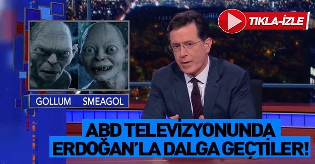ABD televizyonunda Cumhurbaşkanı Erdoğan'ı alaya aldılar! Tıkla izle