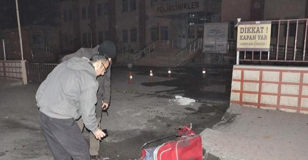 Adıyaman'da hastane önünde bomba paniği!