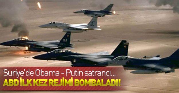Amerika Suriye'de ilk kez rejimi bombaladı! İşte Suriye'de Obama - Putin satrancı