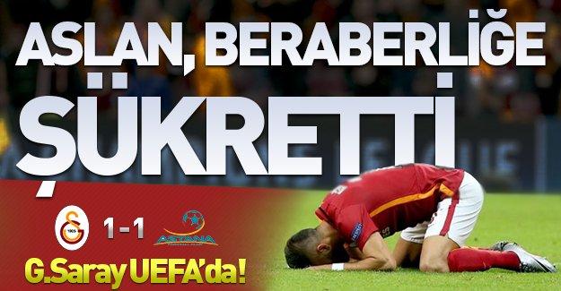 Aslan beraberliğe şükretti! (Galatasaray 1-1 Astana)