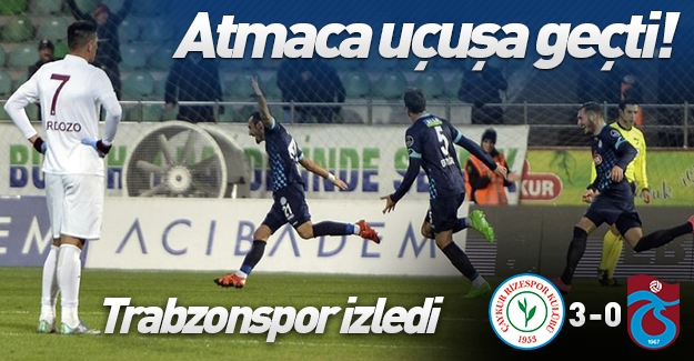 Çaykur Rizespor, Trabzonspor'u farklı mağlup etti! (Çaykur Rizespor 3-0 Trabzonspor) Maç özeti!