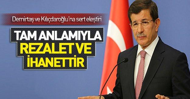 Başbakan Ahmet Davutoğlu CHP ve HDP'ye sert çıktı!