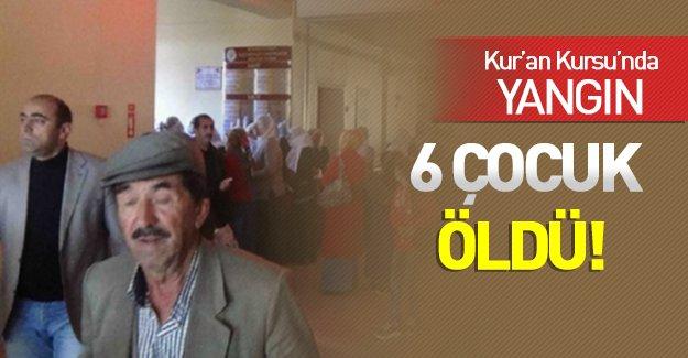 Diyarbakır'da Facia! Kur'an kursu binası yandı: 6 çocuk öldü