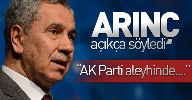 Eski Başbakan Yardımcısı Bülent Arınç açıkça söyledi: ''AK Parti aleyhinde...''