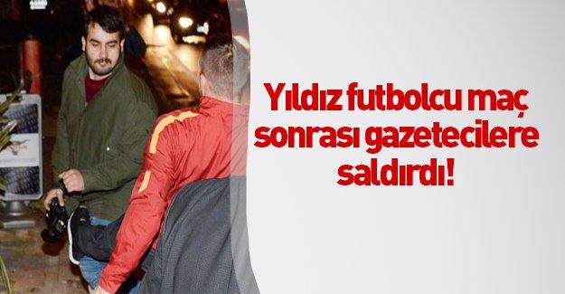 Galatasaray'ın yıldız oyuncusu Podolski gazetecilere saldırdı!