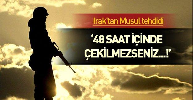 Irak Başbakanı İbadi'den Türkiye'ye Musul tehdidi