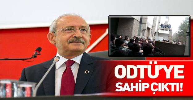 Kemal Kılıçdaroğlu ODTÜ'ye sahip çıktı