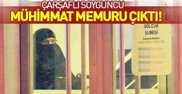 Kocaeli'ndeki çarşaflı banka soyguncusu askeri mühimmat deposu çalışanı çıktı