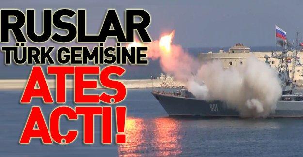 Rus savaş gemisi Türk teknesine ateş açtı!