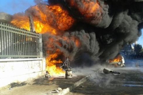 Rus savaş uçaklarından Azez'e hava saldırısı