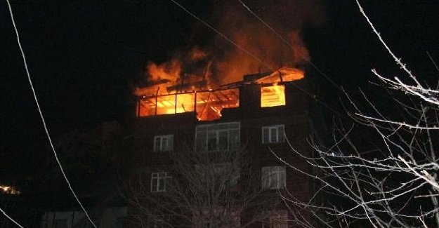 Sivas Suşehri'nde meydana gelen yangın korkuttu!