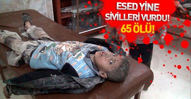 Suriye ve Esad güçleri sivilleri vurdu: 65 ölü