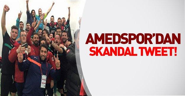 Amedspor'dan maç sonrası skandal tweet!
