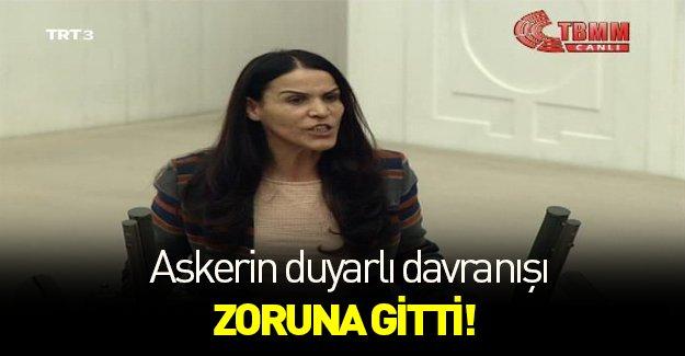 Askerin nazik tavrı HDP'li vekili kızdırdı!