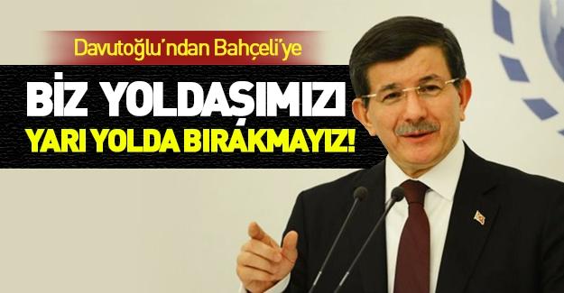 Davutoğlu'ndan Bahçeli'ye Erdoğan cevabı