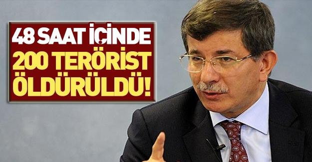 Davutoğlu öldürülen DAEŞ'li sayısını açıkladı!