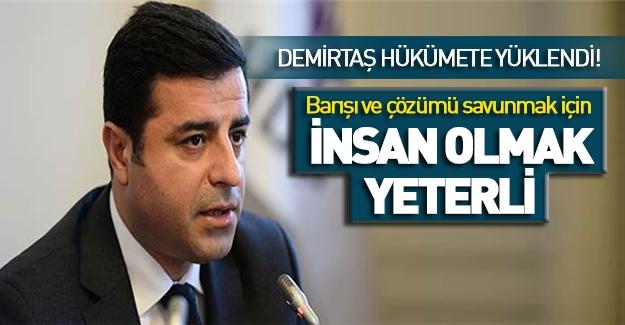 Demirtaş'tan skandal sözler...!