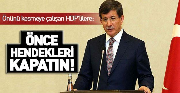 HDP'liler Meclis'te Başbakan'ın önünü kesti