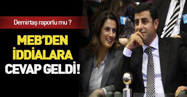 MEB'den Demirtaş'ın eşine ilişkin açıklama!