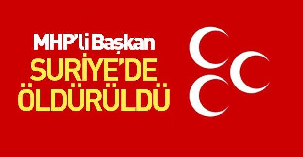 MHP'li Başkan, Türkmen Dağı'nda yaşamını yitirdi