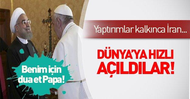 Ruhani Vatikan'da Papa ile sarmaş dolaş!