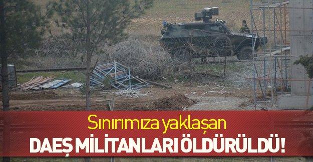 Sınırımıza araçla yaklaşan 5 DAEŞ militanı öldürüldü!