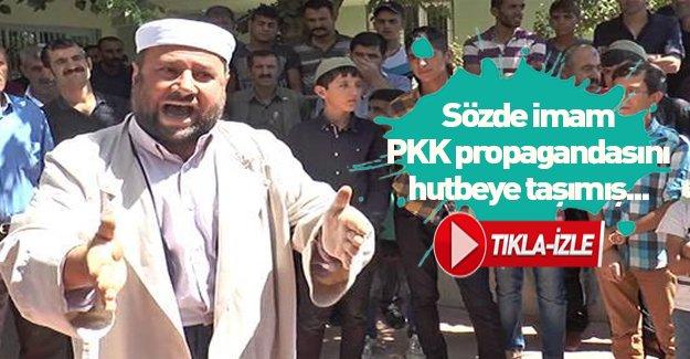 Sözde imam PKK propagandasını hutbeye taşımış