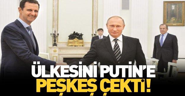 Suriye'nin anahtarını Putin'e verdi!