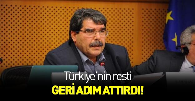 Türkiye'nin PYD resti geri adım attırdı!
