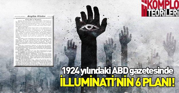 1924 yılındaki ABD gazetesinde İlluminati!
